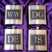 Monogrammed Flasks, Groomsmen Flasks