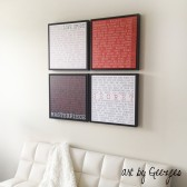 Floating Canvas Frames with your words