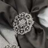 DIAMANTE FLOWER NAPKIN RING 412 N