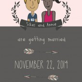 Custom Illustrated Portrait Save the Date