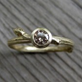 Chocolate Diamond Budding Twig Engagement Ring (.25ct)