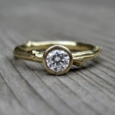Round Diamond Twig Engagement Ring, SI/GH (.25ct)