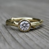 Round Forever Brilliant Moissanite Twig Engagement Ring (.25ct)