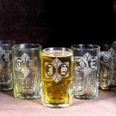 Personalized Gifts for Groomsmen, Monogrammed Beer Steins