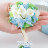 Mother of the groom gift from bride Mother of the bride gift from groom Wedding Magnet White and blue flower fridge Magnets Cute magnet Gift