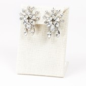 50's Robért Webbed Rhinestone Earrings