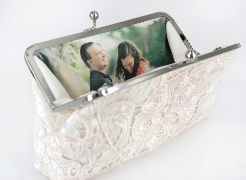 ANGEE W. Personalized Photo Clutches for Brides and Bridesmaids | Custom Unique Clutches