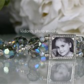 Black Diamond Crystal Photo Bracelet