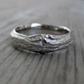 Wide Branch Mens Wedding Band