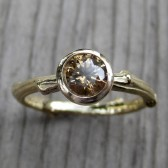 Chocolate Diamond Twig Engagement Ring (.50ct)