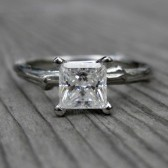 Square Forever Brilliant Moissanite Twig Engagement Ring (.8ct)