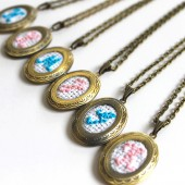 Embroidery Monogram Lockets