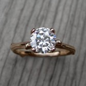 Round Forever One™ Moissanite Twig Engagement Ring (1ct)
