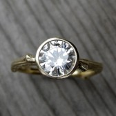 Round Forever Brilliant Moissanite Twig Engagement Ring (1ct)