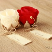Rustic place card favors