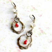 Winter Morning Chandelier Earrings