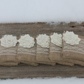6 Burlap and Lace Wedding Clutches