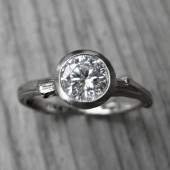 Round Forever Brilliant Moissanite Twig Engagement Ring (.8ct)
