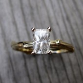 Radiant Forever Brilliant Moissanite Twig Engagement Ring (.70ct)