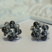 Sophia Grey Vintage Cluster Earrings