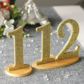 Champagne Glitter Table Numbers