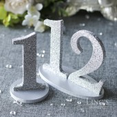Silver Glitter Table Numbers
