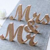 Rose Gold Glitter Mr & Mrs Sign