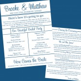 Double-Sided Printable Wedding Program