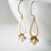 Cluster of Pearl Earrings