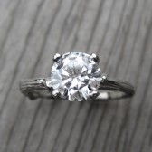 Round Forever Brilliant Moissanite Twig Engagement Ring (1.2ct)