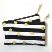 Gold and Black wedding clutch