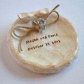 Ring bearer bowl, personalized with your names and wedding date