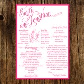 Custom Printable Wedding Programs