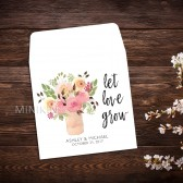 Wedding Seed Packet Favor Watercolor Mason Jar