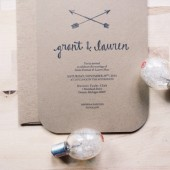 Crossed Arrows Rustic Wedding Invitation