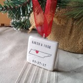 Personalized Tennessee Christmas Ornament