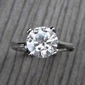 Round Forever One™ Moissanite Twig Engagement Ring (2ct)