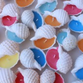 Seashell Candle Beach Wedding Favors- Soy Wax