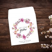 Seed Packet Wedding Favor Watercolor Floral