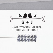 Cute Address Stamp, Bird Address Stamp, Custom Address Stamp, Self Inking Stamp or Wooden Handle, Housewarming Gift, Save the Date, A105
