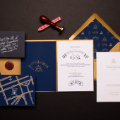 Secret Society Wedding Invitation