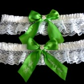 Apple Green Bridal Garter Set