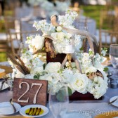 Wooden Glittered Table Numbers