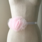 Pink Tulle Bridesmaid Sash