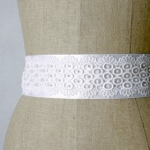 White Lace Sash