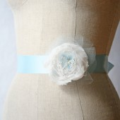 Light Blue Wedding Sash