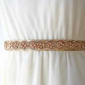 Antique Gold Weave Bridal Sash