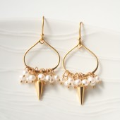 Pearl & Spike Earrings