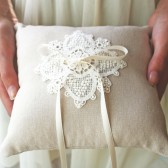 Chambery Lace Ring Pillow