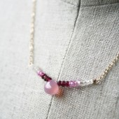Pink Ombre Bridesmaid Necklace